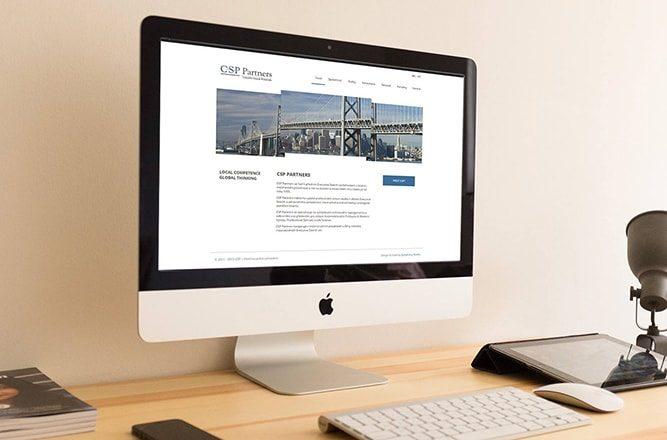 Tvorba webových stránek pro CSP Partners