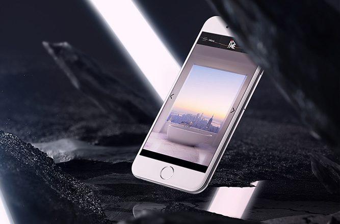 Webové stránky Re-stone na mobilní zařízení